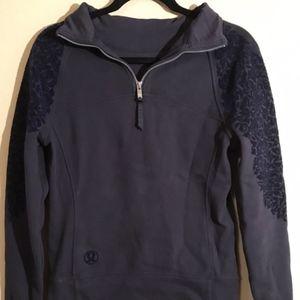 Lululemon Navy Sz 6 Scuba Hoodie Swearshirt Jacket